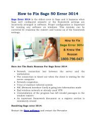 Sage 50 Error 3014: 1800-796-0471 Reason & Solutions