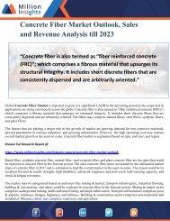 Concrete Fiber Market Outlook, Sales and Revenue Analysis till 2023