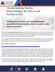 Circular Knitting Machine MarketInsights, Key Players and Forecast to 2022
