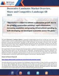 Decorative Laminates Market Overview, Share and Competitive Landscape till 2023