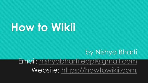 PDF (How to Wikii)