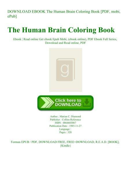 DOWNLOAD EBOOK The Human Brain Coloring Book [PDF mobi ePub]