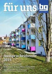 Baugenossenschaft Hof eG: für uns - April 2019