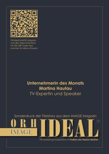 Orhideal IMAGE Titelstory über Martina Hautau Unternehmerin des Monats April 2019
