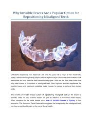 Why Invisible Braces Are a best Option for Repositioning Misaligned Teeth