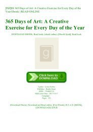 [Pdf]$$ 365 Days of Art A Creative Exercise for Every Day of the Year Ebook  READ ONLINE