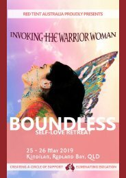 Boundless Self-Love Retreat: Invoking The Warrior Woman Programme 2019