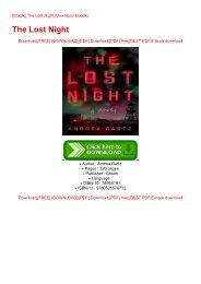 [BOOK] The Lost Night (Download Ebook)