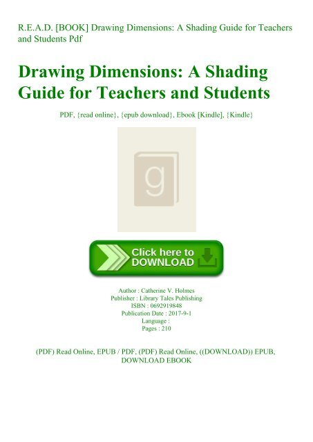 R E A D Book Drawing Dimensions A Shading Guide For