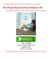 [DOWNLOAD IN @PDF] The Prayer Box (Carolina Heirlooms #1) [Free Ebook]