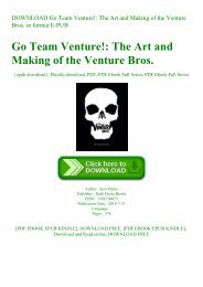 DOWNLOAD Go Team Venture! The Art and Making of the Venture Bros. in format E-PUB