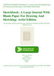 ^DOWNLOAD@PDF# Sketchbook A Large Journal With Blank Paper For Drawing And Sketching Artist Edition (Ebook pdf)