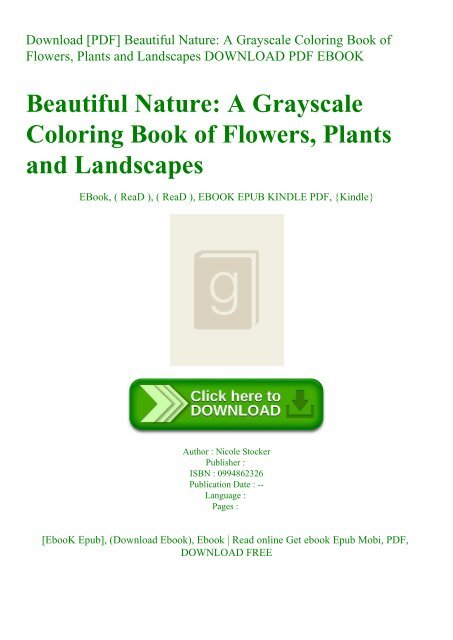 Download [PDF] Beautiful Nature A Grayscale Coloring Book of ...