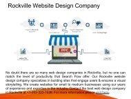 Professional Rockville Website Design Company