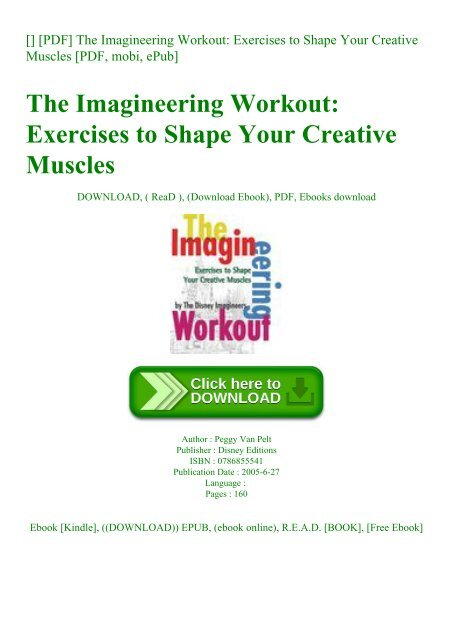 The Imagineering Workout Exercises to Shape Your Creative Muscles