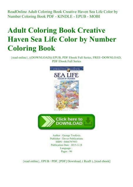 ReadOnline Adult Coloring Book Creative Haven Sea Life Color By Number  Coloring Book PDF - KINDLE - EPUB - MOBI