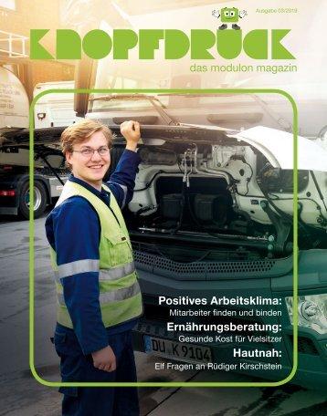 KNOPFDRUCK modulon Magazin März 2019