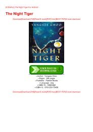 [Pdf/ePub] The Night Tiger For Android