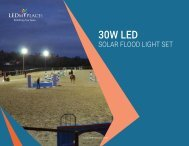 Benefits of LED Solar Flood Light Set and Uses