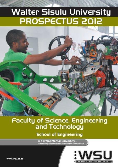 School of Engineering prospectus 2012 - Walter Sisulu University