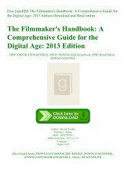 Free [epub]$$ The Filmmaker's Handbook A Comprehensive Guide for the Digital Age 2013 Edition Download and Read online