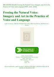 [READ PDF] Kindle Freeing the Natural Voice Imagery and Art in the Practice of Voice and Language [PDF  mobi  ePub]