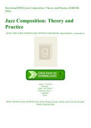Download [PDF] Jazz Composition Theory and Practice [EBOOK PDF]