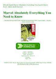 [EbooK Epub] Marvel Absolutely Everything You Need to Know P.D.F. FREE DOWNLOAD
