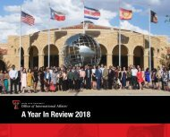 Office of International Affairs - 2018 Year in Review