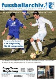 2018/19 - Heft 12 - Programmheft 1. FC Magdeburg - FSV 63 Luckenwalde