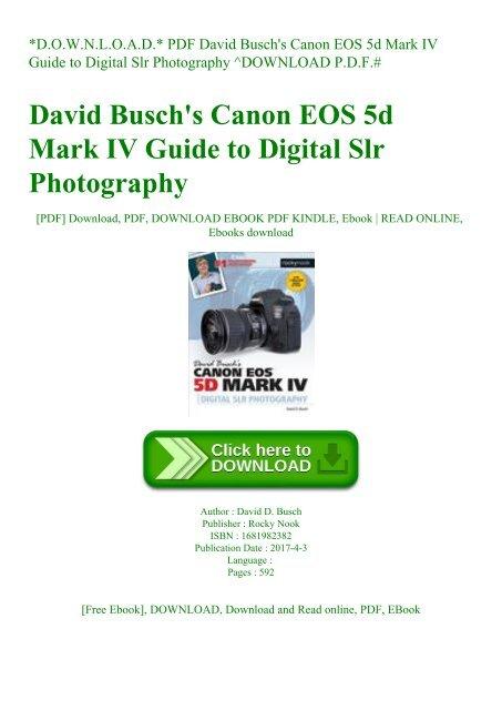D O W N L O A D  PDF David Busch'