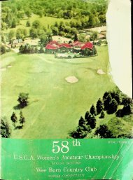 58th U.S.G.A. Women's Amateur Championship Program August 18-23 1958