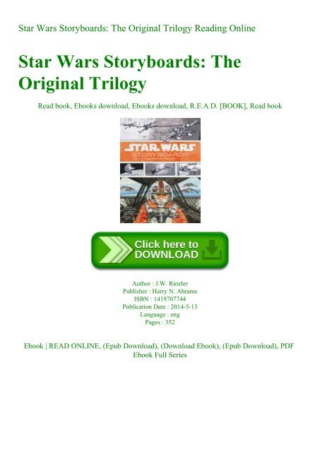 Ebook Star Wars Storyboards The Original Trilogy Reading Online