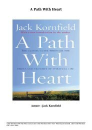 Scaricare Libri A Path With Heart Gratis Di Jack Kornfield