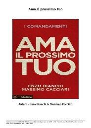 Scaricare Libri Ama il prossimo tuo Gratis Di Enzo Bianchi & Massimo Cacciari