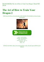 READ [EBOOK] The Art of How to Train Your Dragon 2 Book PDF EPUB