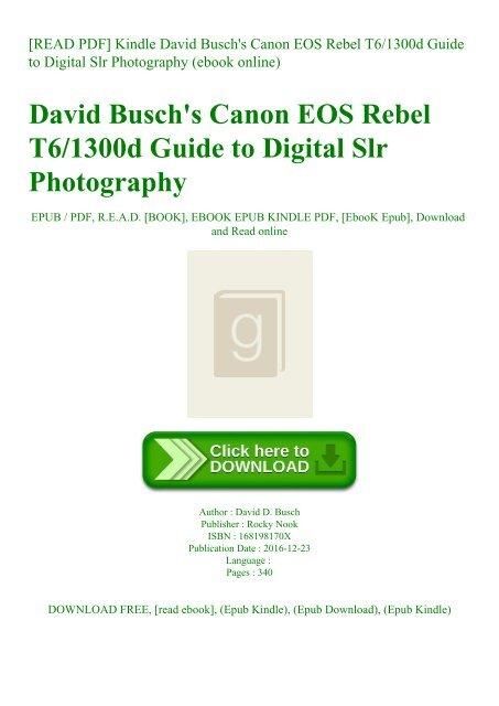 READ PDF] Kindle David Busch'