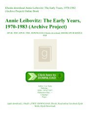 Ebooks download Annie Leibovitz The Early Years  1970-1983 (Archive Project) Online Book