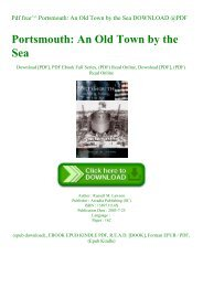 Pdf free^^ Portsmouth An Old Town by the Sea DOWNLOAD @PDF