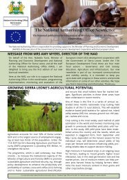 The Newsletter of the National Authorising Office Sierra Leone Issue 1 2019