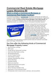 HII Commercial Mortgage Loans Wyoming MI | 616-649-2270