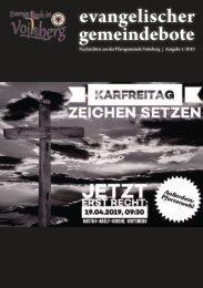 evangelischer gemeindebote 1/2019