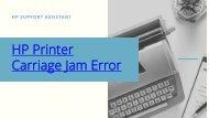 Hp Printer Carriage Jam error
