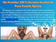 We Provides 100  Genuine Services In Pune Escorts