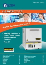 Bartelt Labortops Q2 2019 Laboratory equipment_EN