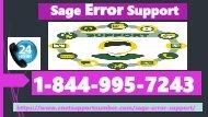 Sage Error Support +1-844-995-7243