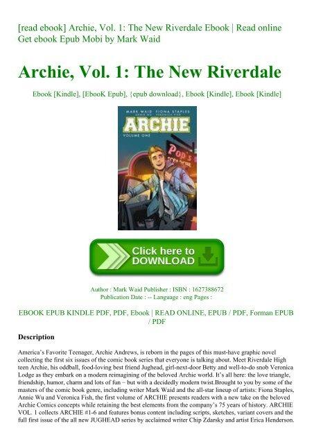 Read Ebook Archie Vol 1 The New Riverdale Ebook Read Online Get Ebook Epub Mobi By
