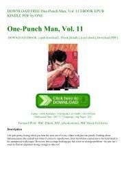 DOWNLOAD FREE One-Punch Man  Vol. 11 EBOOK EPUB KINDLE PDF by ONE
