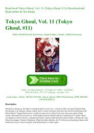 Read book Tokyo Ghoul  Vol. 11 (Tokyo Ghoul  #11) Download and Read online by Sui Ishida