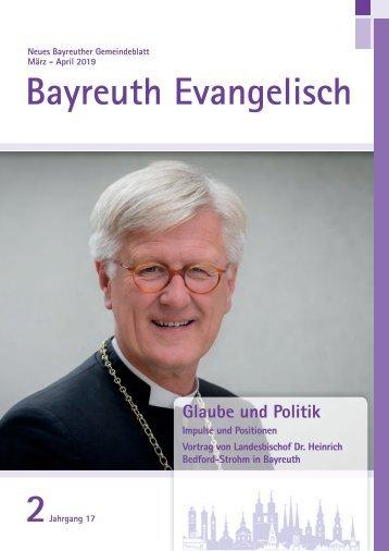 Bayreuth Evangelisch Ausgabe 2 Maerz/April 2019